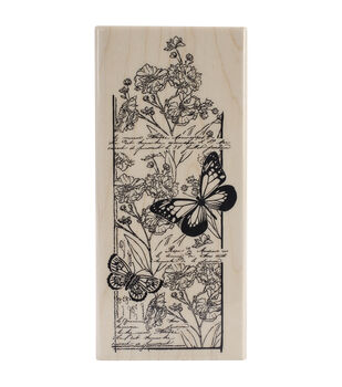 """Penny Black Mounted Rubber Stamp 2.5""""X5.5""""-Butterfly Chapter"""