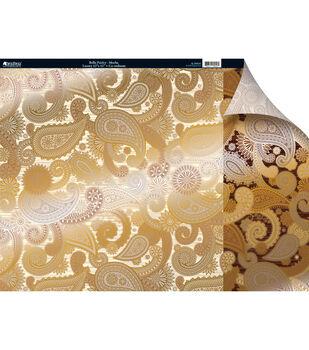 Kanban Cafe 2-Sided Cardstock 12X12-Bella Paisley Mocha
