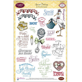 JustRite Papercraft Clear Stamp Set Special Delivery