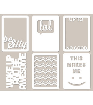 Jillibean Soup Be Silly Mini Placemats Die Cut Cardstock Cards