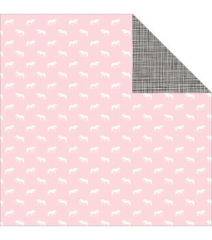 Pink Paislee Bella Rouge Rainbow Bright Double-Sided Cardstock