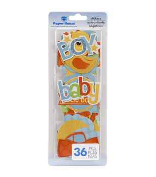 Paper House Baby Boy Self-Adhesive Die-Cuts Stickers