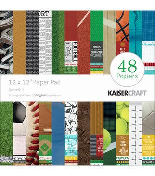 "Kaisercraft Paper Pad 12""X12"" 48/Pkg-Game On!"