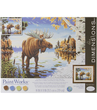 """Paint By Number Kit 11""""X14""""-Majestic Moose"""