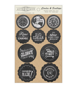 """Accomplished Double-Sided Cardstock Die-Cut Accents 4""""X6""""-Circles & Scallops"""