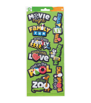 Imaginisce Family Fun Dimensional Sticker Stackers