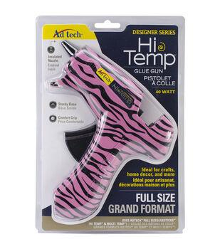 Full Size Glue Gun-Pink Zebra
