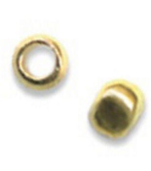 Beadalon 2mm Outer/1.3mm Inner Metal Crimp Beads-75PK/Gold