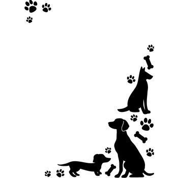 Darice Embossing Folder Dogs & Paws