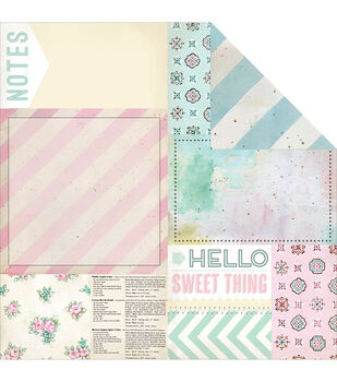 Melissa Frances The Sweet Life Bits & Pieces Double-Sided Cardstock