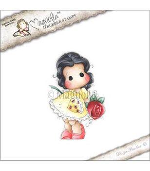 """Pink Lemonade Cling Stamp 3.75""""X6.5"""" Package-Tilda W/A Big Big Rose"""