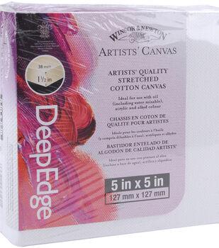 "Winsor & Newton Deep Edge Stretched Canvas 5""x5""-5""x5"""
