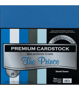 "Core'dinations Value Pack Cardstock 12""X12"" 20/Pkg-The Prince-Smooth"