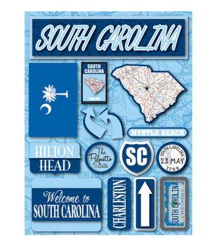 Reminisce Dimensional Stickers-South Carolina