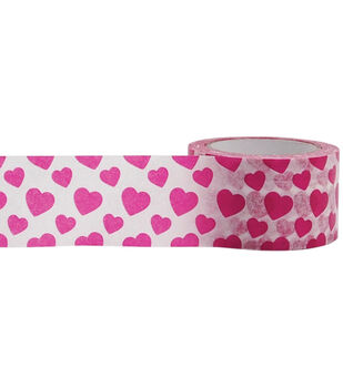 Little B Foil Tape 25mmX10m-Pink Hearts