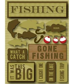 Reminsce Signature Dimensional Stickers-Fishing