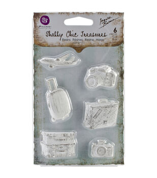 Shabby Chic Treasures Resin embellishments-Explore 6/Pkg