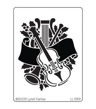 Stampendous Dreamweaver Metal Musical Christmas Stencil
