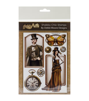 Debbi Moore Shabby Chic Clear Stamp Set-Steampunk 2