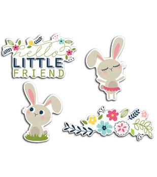 Imaginisce Bunny Friends - Welcome Spring Cardstock Die Cuts