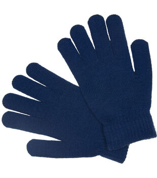 Laliberi Winter Knit Heavyweight Gloves In Cobalt