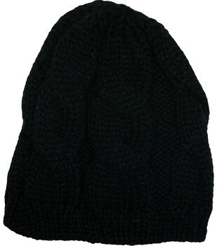Laliberi Winter Knit Black Crochet Cap