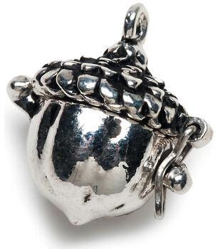 Darice Prayer Box Charm-Antique Silver Acorn