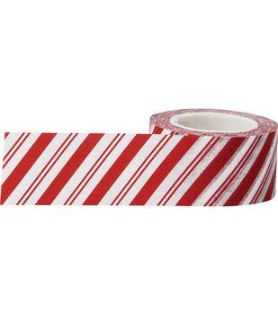 Little B Decorative paper Tape 25mmx15m-Candy Cane Stripes