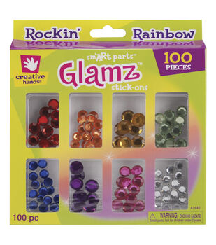 Fibre Craft Stick-On Glamz 100 Rainbow