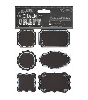 Papermania Chalk Craft Frames Chalkboard Stickers