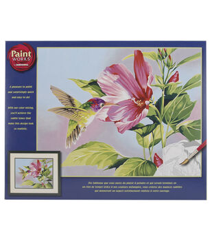 Dimensions Paint By Number Hibiscus Hummingbird