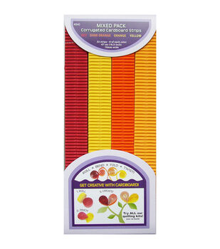 """Quilling Paper Corrugated 18.5""""X10mm 32/Pkg-Red, Orange & Yellow"""