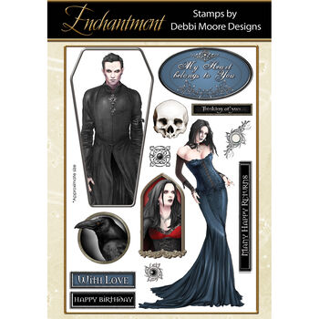 Debbi Moore Designs Enchantment Clear Stamp Set Twilight Queen
