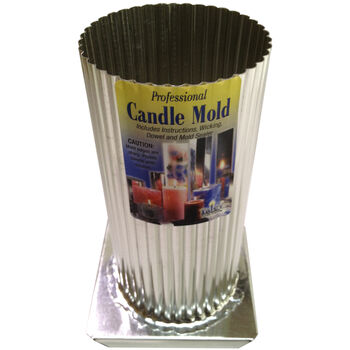 Yaley Candle Crafting Professional Metal Candle Mold Mini Scallop Round