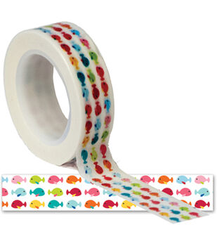 Summer Trendy Tape 15mm X 10yds-Fishes