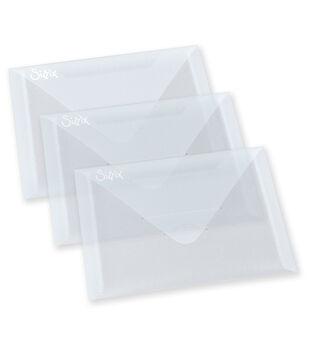 "Sizzix Plastic Envelopes 3/Pkg- 6.875""X5"""