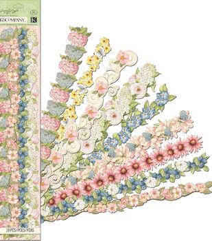 Susan Winget Floral Adhesive Borders
