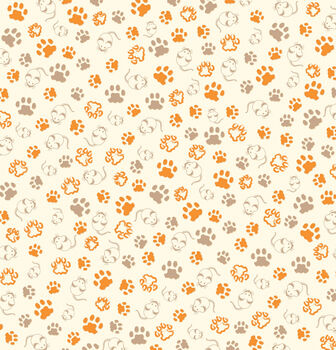 Canvas Corp Ivory Cat Paws Single-Sided Cardstock
