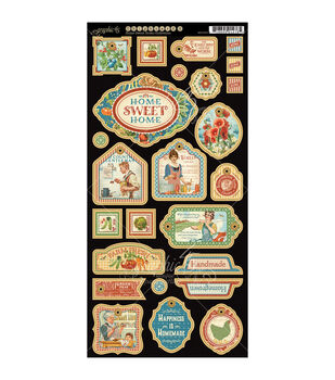 Graphic 45 Home Sweet Home Decorative Chipboard Die-Cuts