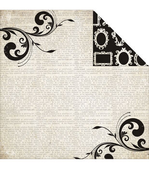 """Moments & Memories Double-Sided Cardstock 12""""X12""""-Flourish"""