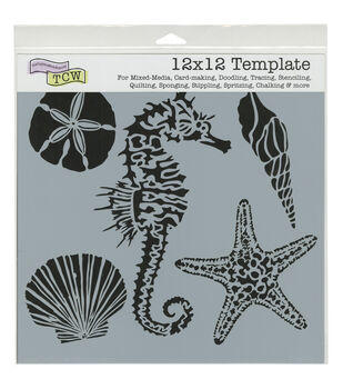 """Crafter's Workshop Template 12""""X12""""-Sea Creatures"""