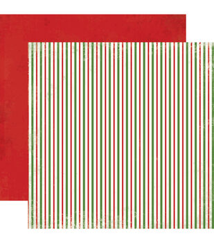 "Christmas Time Double-Sided Cardstock 12""X12""-Christmas Stripes"
