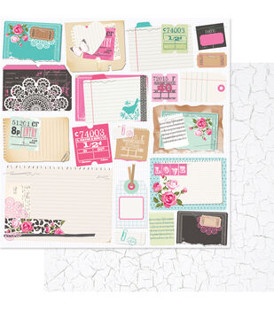"""Beautiful Chic Double-Sided Cardstock 12""""X12""""-Clippings"""
