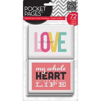 Me  & My Big Ideas Love Pocket Pages Cards 3''x4''
