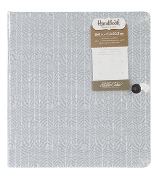 "South Of Market Handbook Cloth Cover D-Ring Album 8.75""X9.75-Herringbone W/Leather Clasp"