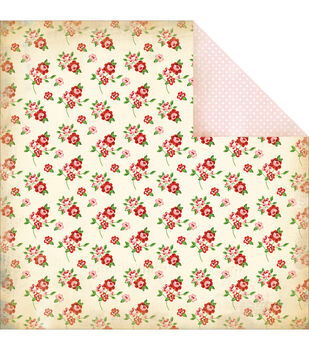 "Baby Floral - Baby Mine Girl Double-sided Cardstock 12""x12"""
