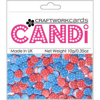 Craftwork Cards Candi Dot Printed Embellishments Berry Bliss
