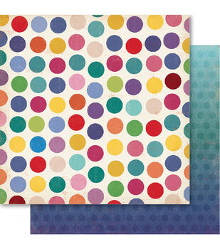 Ruby Rock-It 21st Dots Double-Sided Cardstock