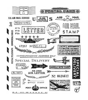 Stampers Anonymous Correspondence Cling Rubber Stamp Set