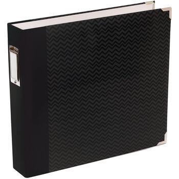 American Crafts Designer D-Ring Album Blush Edition Black